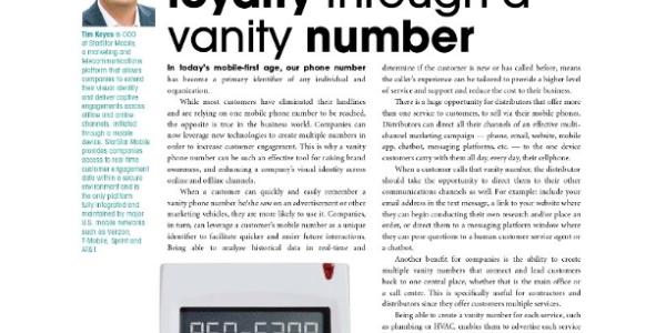 Increase Customer Loyalty Through a Vanity Number